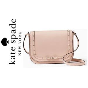 NWT Kate Spade Leather jeweled crossbody blush